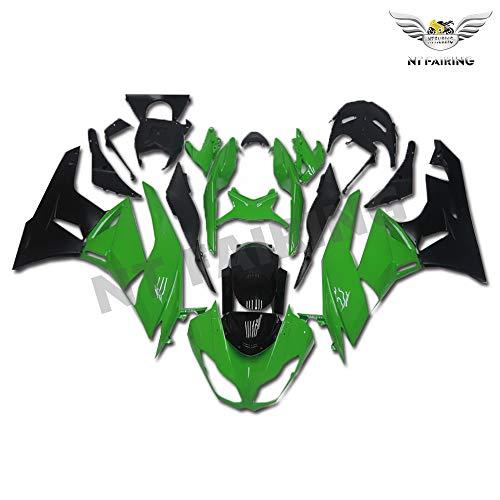 New Green Black Fairing Fit for Kawasaki Ninja 2009-2012 ZX6R 636 ZX-6R Injection Mold ABS Plastics Aftermarket Bodywork Bodyframe 2010 2011 09 10 11 12