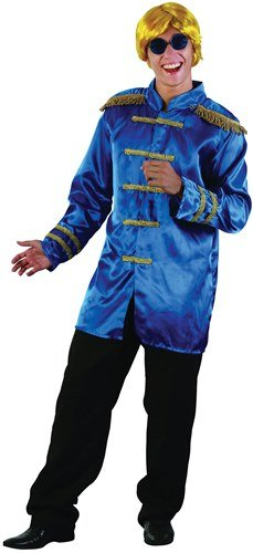 Blue Sgt Pepper Costume (60s 70s Beatles Sgt Pepper Jacket - Blue (Chest 38-44