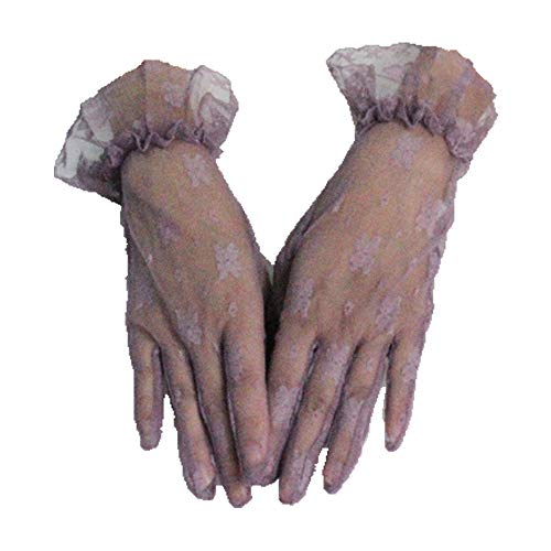 Short Wrist Length Bridal Satin Gloves with 17 Colors Evening Party Gloves,Lavender ()