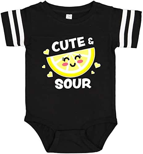 inktastic Cute and Sour with Cute Lemon with Face and Hearts Infant Creeper