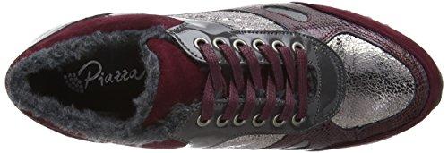 Basses Noir Rouge Baskets Piazza Femme Bordeaux 850329 qnHaxAUF