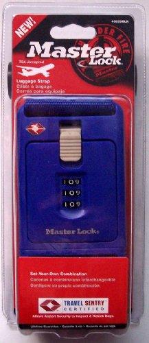 Master Lock Combination Travel Bag Strap (Blue)