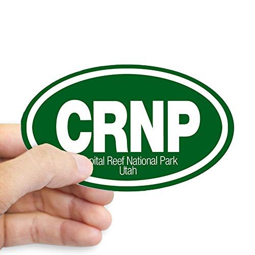 (CafePress Capitol Reef National Park Oval Sticker Oval Bumper Sticker, Euro Oval Car Decal)