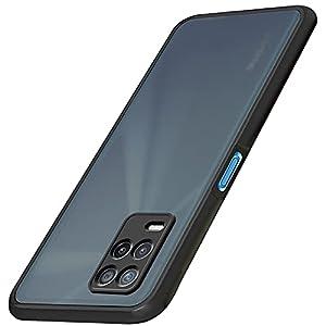 TheGiftKart Translucent Hybrid Realme 8 5G / Narzo 30 5G Back Case Cover | Smoked Matte Back | 360 Degree Protection…