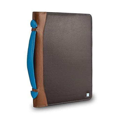 Cartella portadocumenti colorata in vera pelle porta tablet iPad DUDU Marrone scuro