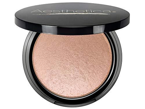 Aesthetica Starlite Highlighter - Metallic Shimmer Highlighting Makeup Powder - Cosmos (Sparkling Rose Gold) (Highlighter Makeup Powder)