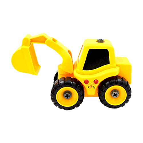 Icocol Friction Powered Cars Push and Go Car Construction Vehicles Toys Tractor,Bulldozer,Cement Mixer Truck,Dumper Push Back Cartoon Play Toy Trucks for Kids Gift (C)