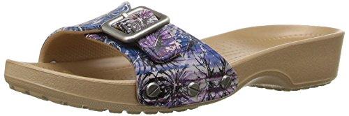 Crocs Womens Sarah Graphic Flat Sandal