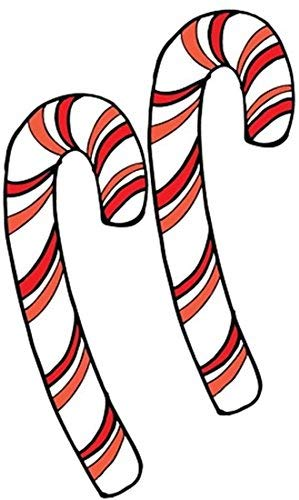 Candy Canes Christmas Auto Car Magnet, Pack of 2