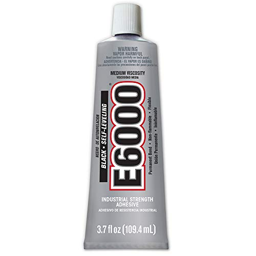 Extra Strength Adhesive - Eclectic Products 230031 3.7 oz. E6000 Medium Viscosity Industrial Strength Adhesive, Black