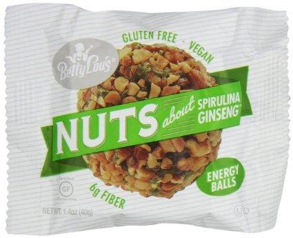 Betty Lou's - Nuts About Spirulina Ginseng Energy Balls - 1.4 oz (pack of - Balls Spirulina Ginseng