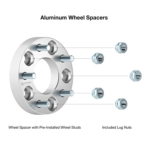 4pc 1.25'' Thick Wheel Adapters 5x5 to 5x5.5 (CHANGES BOLT PATTERN) with metric 12x1.5 Studs & Nuts (5x127 to 5x139.7) 32mm Spacers by Precision European Motorwerks (Image #3)