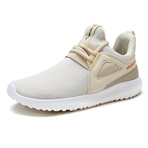 DREAM PAIRS Women's 170362-W Beige Orange Fashion Sneakers Lightweight Breathable Mesh Walking Gym Running Sport Shoes 5 M US ()