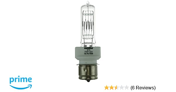 Clear Sunlite BTL 500W//T6//120V//CL//P28s 500-Watt 120-Volt Medium Pre-Focus Based Stage and Studio T6 Bulb