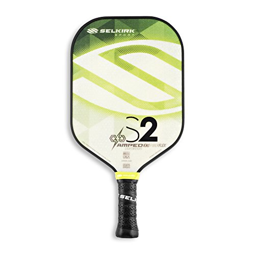 Selkirk Amped Pickleball Paddle - USAPA Approved - X5 Polypropylene Core - FiberFlex Fiberglass Face - 5 Sizes: Epic, S2, Omni, Maxima, and INVIKTA (S2 Lightweight - Emerald Green)