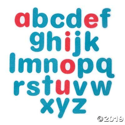 Fun Express Felt Alphabet Set - 26 Pieces - Educational and Learning Activities for Kids: Toys & Games
