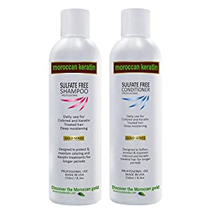 10. Moroccan Sulfate-Free Shampoo & Conditioner Set Infused with Moroccan Argan Oil