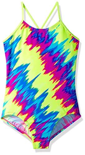 Nike One Piece Swimsuits - Nike Swim Big Girls' Crossback One Piece Swimsuit, Fuchsia Blast Splash, 16