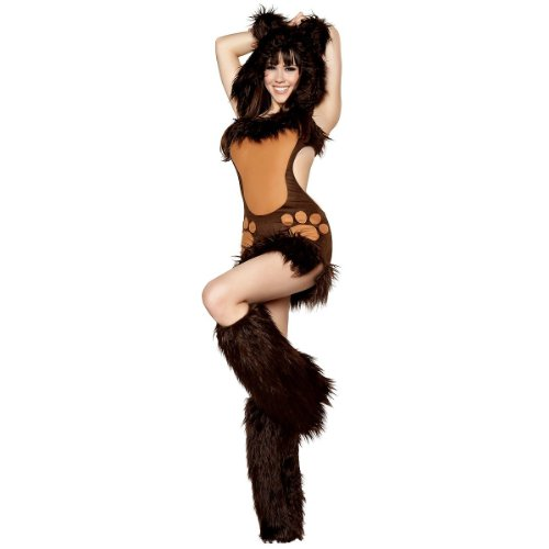 Sexy Teddy Bear Costumes - Bodacious Bear Adult Costume - Medium
