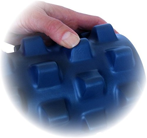 RumbleRoller Half Size 12 Inches Blue Original Textured Muscle Foam Roller Relieve Sore Muscles Your Own Portable Massage Therapist Patented Foam Roller Technology