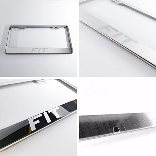 One Polish Chrome Laser Engraved fit Stainless Steel USA License Plate Frame 12.25