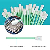 Melonsun 300pcs Foam Cleaning Swab Sticks for