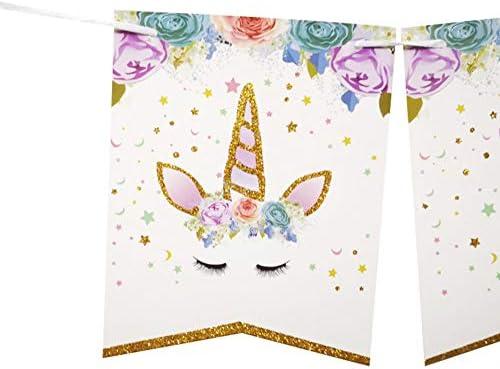 Amazon.com: Hemore - Juego de banderines de unicornio para ...