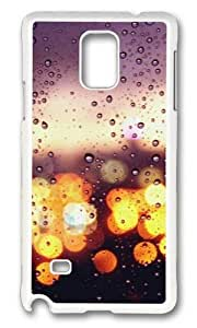 MOKSHOP Adorable Colorful rainy day Hard Case Protective Shell Cell Phone Cover For Samsung Galaxy Note 4 - PC White