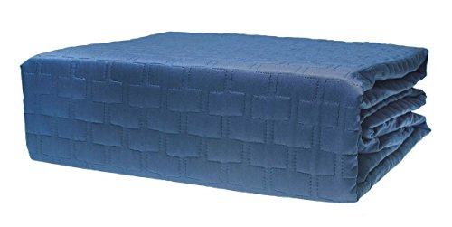 (BedVoyage Bedroom Bamboo Quilted Coverlet - Indigo - Queen )