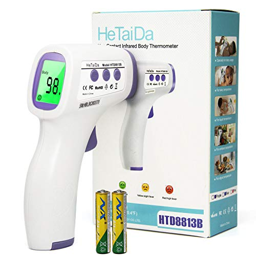 Baby Forehead Thermometer with Voice Reading.Digital Infrared Non-Contact Suitable for Baby, Toddlers and Adults And Object with Instant Results