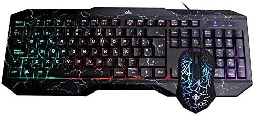 YEYIAN Kit Gaming de Teclado y raton Yeyian Phoenix 1001, con cable, USB, negro (yc1001)