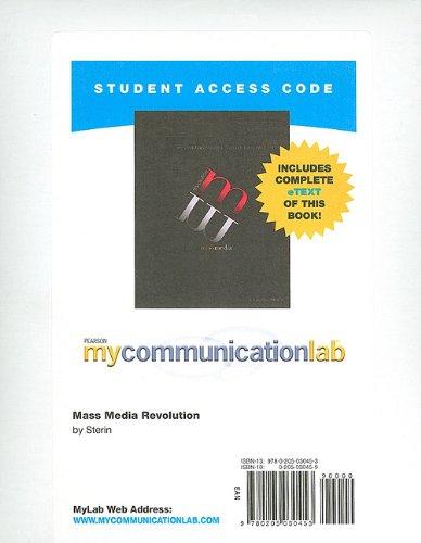 MyCommunicationLab with Pearson eText -- Standalone...