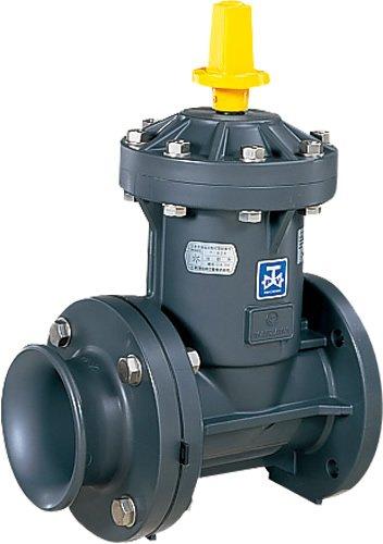 上水道関連製品>ビニベンゲート/バタフライ>ビニゲート GH流出形ラッパ口付 1型 (キャップ式/左開き) GH1-50 Mコード:15166M 前澤化成工業 B079BKGJQT