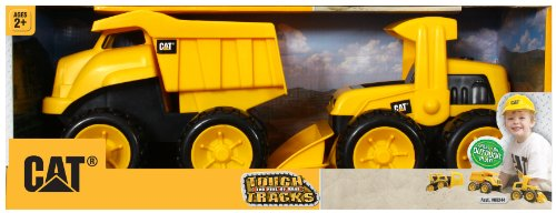 (Toy State Caterpillar Construction 8'' Tough Tracks 2-Pack: Dump Truck And Wheel Loader)