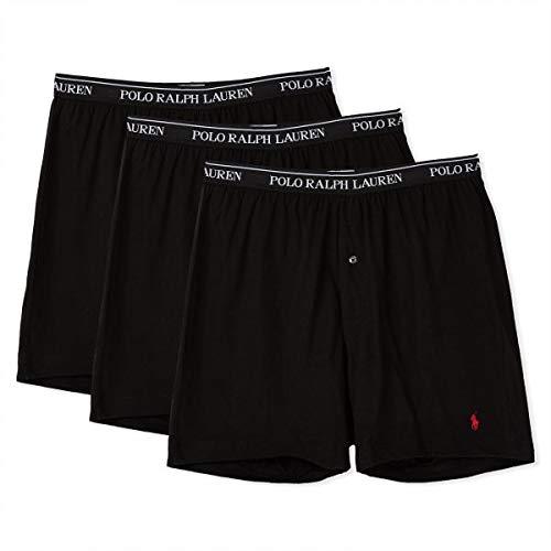 Polo Ralph Lauren Classic Cotton Knit Boxer 3-Pack, L, Black