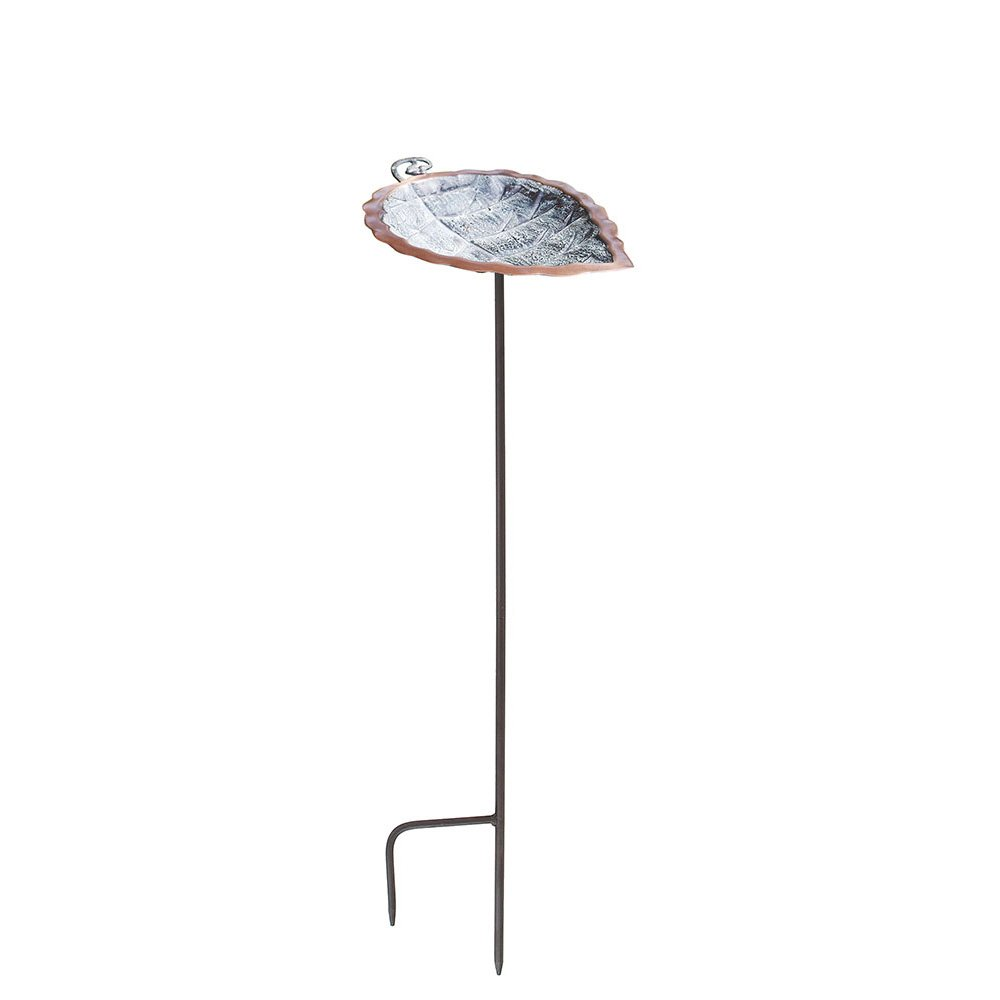 Achla Designs Aspen Leaf Birdbath with Stake