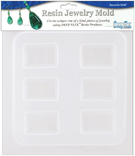 (Yaley 6-Shape Rectangle Resin Jewelry Reusable Plastic Mold, 1/2 by 7-Inch)