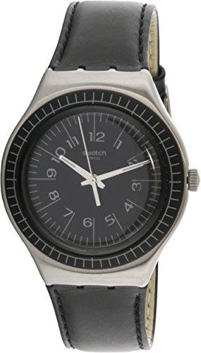 Swiss Quartz Movement Mineral Crystal - Swatch Antonin YGS133C Silver Leather Swiss Quartz Fashion Watch