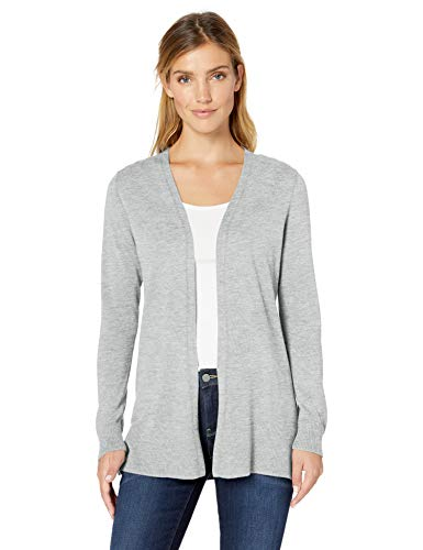 Cotton Cardigan Grey - Amazon Essentials Women's Lightweight Open-Front Cardigan Sweater, Light Grey Heather, X-Large