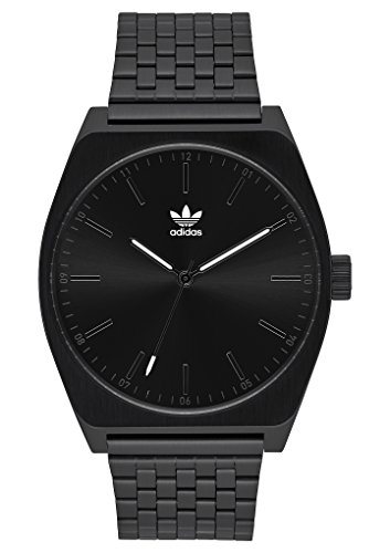 adidas Watches Process_M1. 6 Link Stainless Steel Bracelet, 20mm Width (All Black. 38 mm). ()