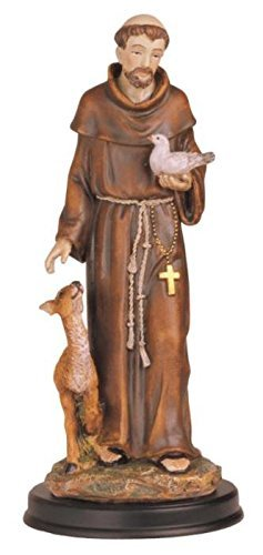 StealStreet SS-G-212.05 Saint Francis Holy Figurine Religious Decoration Statue Decor, 12