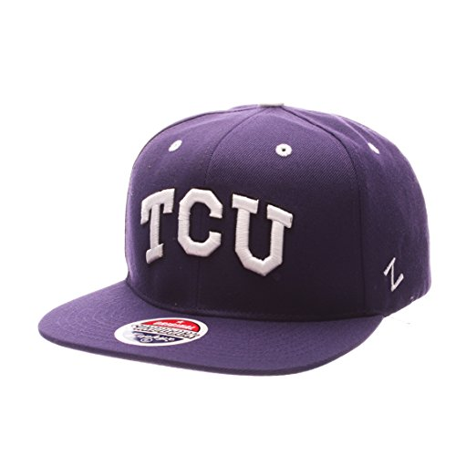 TCU Horned Frogs Z11 Adjustable Snapback Cap - NCAA Texas Christian Flat Bill Zephyr Baseball Hat