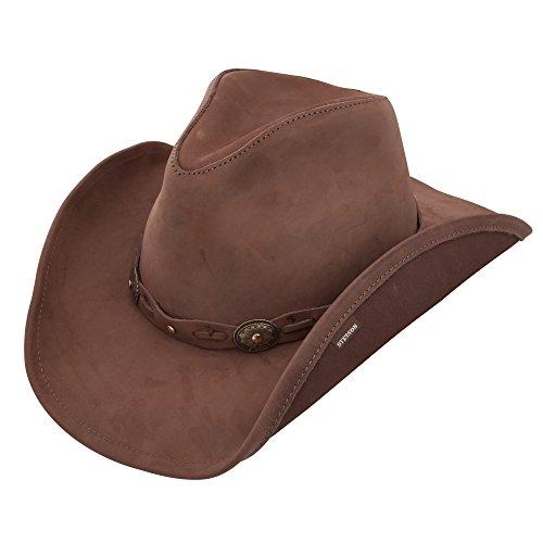 Stetson Roxbury Shapeable Leather Cowboy Western Hat, Mocha - Small
