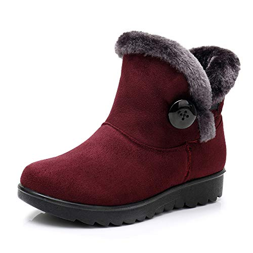 Dora The Explorer Snow Boots - SMALLE ◕‿◕ Clearance,Women's Ladies Winter Ankle Martin Short Snow Boots Fur Footwear Warm Shoes