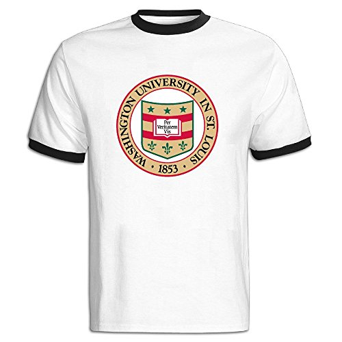 Men's Washington University In St. Louis Seal Baseball T-shirt Black