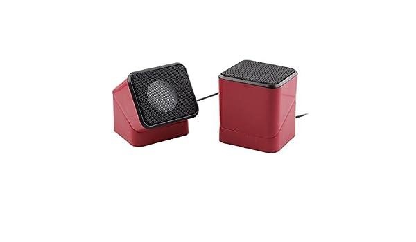 Amazon.com: eDealMax plástico 180 grados Diseño giratorio USB estéreo alimentado Mini PC Multimedia portátil altavoz de la computadora Audio Música Par de ...