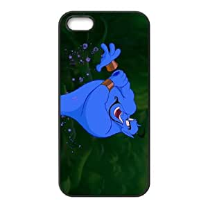 iPhone 5,5S Phone Case Black Aladdin Genie DZW9561353