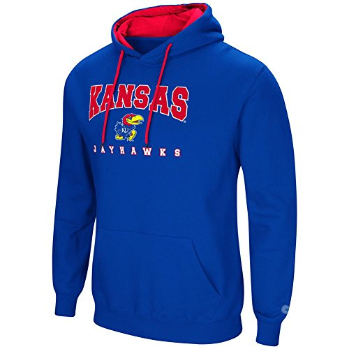 Colosseum Kansas Jayhawks KU Men's Hoodie Pullover Hooded Sweatshirt (Medium)