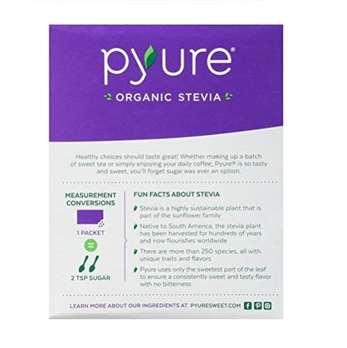 Organic Stevia Sweetener Packets, Sugar Substitute, 40 Count by Pyure (Image #2)