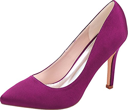Pointed Nightclub Toe Pumps 0608 Work Job Simple Eu 37 Wedding Ol 01 Purple Dress Satin Ladies Bride Heeled Pvz4qg